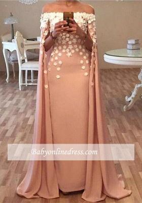 Flowers Appliques Designer Floor-Length Long Glamorous Prom Dress_3