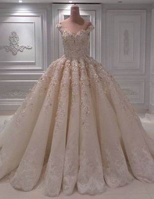 Ball Gown Lace Wedding Dresses | Off the Shoulder Bridal Gowns_1