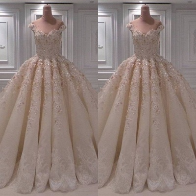 Ball Gown Lace Wedding Dresses | Off the Shoulder Bridal Gowns_2