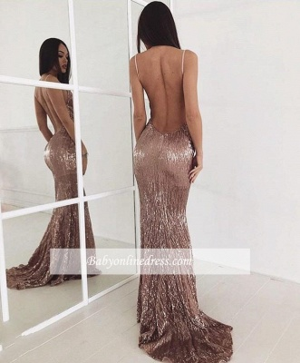 Sweep-train Sequin New-arrival Sexy Beading Backless Prom Dress_1