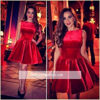 Sleeveless Designer Red Short Sexy Homecoming Dress_1