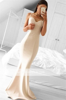 Alluring Mermaid Long Sleeveless Prom Dresses Spaghetti Strap Evening Gowns_3