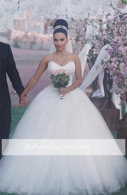 Sleeveless Sweetheart Ball-Gown Beading Glamorous Wedding Dress_2
