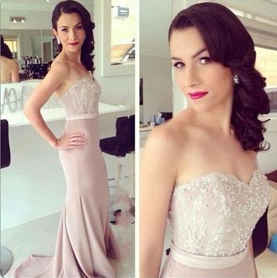 Beads Lace Mermaid Elegant Sweetheart Prom Dress_3