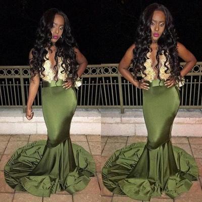 Gorgeous Sleeveless Mermaid Lace Prom Dress_3