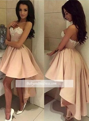 Modern Sweetheart Lace High-low Ball-Gown Cocktail Dress_1