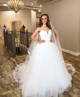 Sweetheart Ball Gown Wedding Dresses | Cheap Tulle Bridal Gowns_2