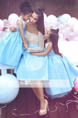 Elegant White Appliques Sleeveless Lace 2018 Flower Gril Dresses_3