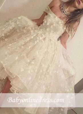 Romantic Off-the-shoulder Hi-Lo Prom Dresses 2018 3D-Floral-Appliques Evening Gowns_3