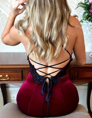 Sexy Dark Green Prom Dresses | Spaghettis Straps Open Back Mermaid Evening Gowns_4