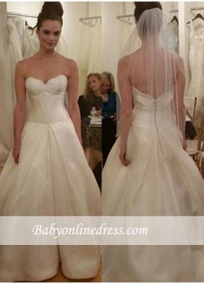 Gorgeous Sleeveless Princess Bridal Gowns Zipper Sweetheart Wedding Dresses_2