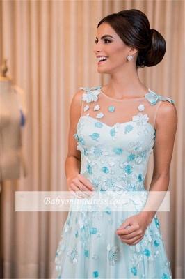 Glamorous Sleeveless Floor-Length Buttons A-line Prom Dress_4
