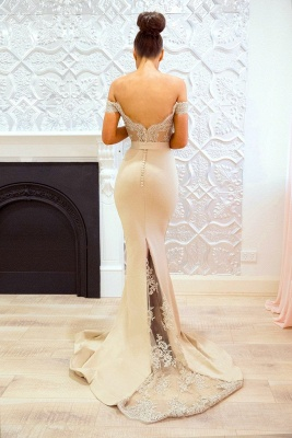 Off-the-Shoulder Bridesmaid Dresses | Elegant Lace Maid of the Honor Dresses_4