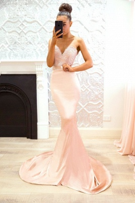 Pink Sweetheart Neck Bridesmaid Dresses | Sleeveless Long Maid of the Honor Dress_3