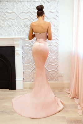 Pink Sweetheart Neck Bridesmaid Dresses | Sleeveless Long Maid of the Honor Dress_4