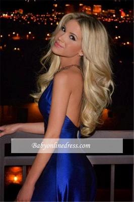 Sexy Royal Blue Prom Dresses V-Neck Side Slit Open Back A-Line Evening Dresses BA4603_3