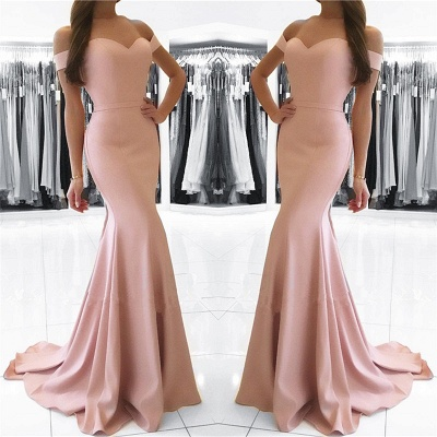 2018 Mermaid Prom Dresses Sexy Off the Shoulder Long Formal Party Dress RB0001_3