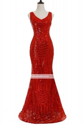 Newest Sleeveless Mermaid Jewel Long Sequin Prom Dress_7