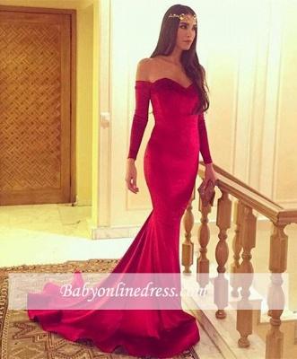 Glamorous Long-Sleeve Mermaid Party Dresses Sweetheart Evening Dress BA5185_1