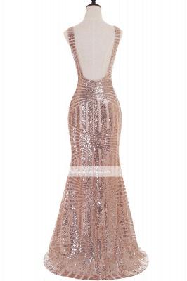 Newest Sleeveless Mermaid Jewel Long Sequin Prom Dress_5
