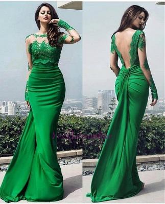 chic Elegant prom dresses lace long prom dresses_3