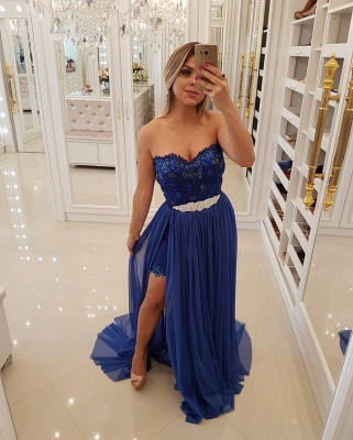 Luxury Sheath Lace Homecoming Dresses | Sweetheart Short Party Dresses Overskirt Bar0051_5