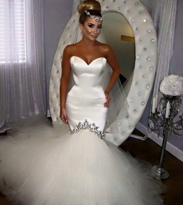 Strapless Sweetheart Mermaid Wedding Dresses | Modern Bridal Gowns_3