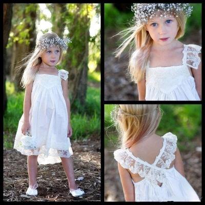 Crisscross Cute Flower Capped-Sleeves Back Girls Dresses_3