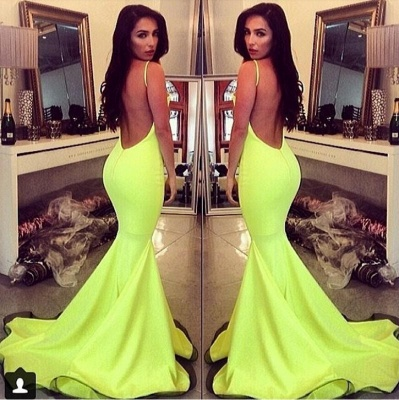 Alluring Fit and Flare Backless Prom Dresses Fit and Flare Spaghetti Straps_3