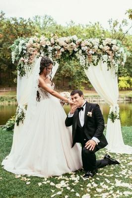 Elegant Lace Sweetheart Princess Tulle Beadings Wedding Dresses_3