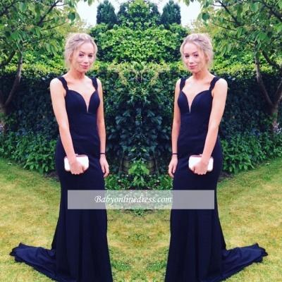 2018 Long Sweep-Train Mermaid Elegant Two-straps Prom Dress_1