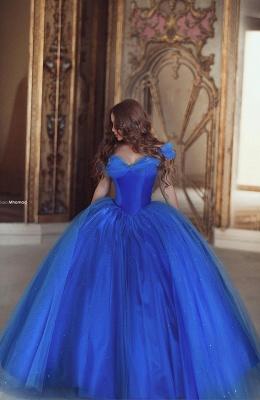 Royal Blue Ball Gown Princess Dresses Off Shoulder Floor Length Stunning Prom Dresses_1