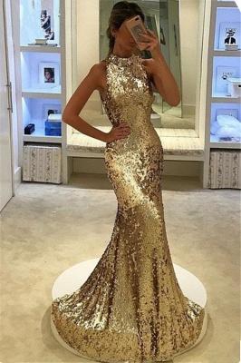 Long Mermaid Sleeveless Sequins Elegant Prom Dress_3