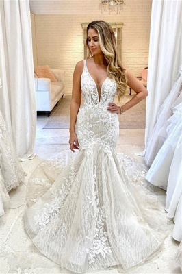 Sexy Lace Mermaid Wedding Dresses | StraplsSweetheart Bridal Gowns_1