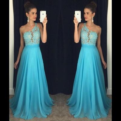 One-Shoulder A-line Lace Appliques Gorgeous Prom Dresses_2