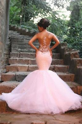 Elegant Mermaid Lace Wedding Dresses | Spaghettis Beaded Tulle Bride Gowns_5