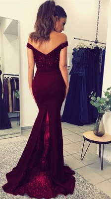2018 Mermaid Prom Dresses Appliques Beaded Open Back Evening Gown_6