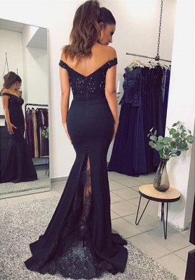 2018 Mermaid Prom Dresses Appliques Beaded Open Back Evening Gown_5