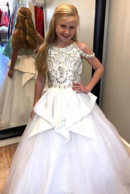 Flower Girls A-line Beading Formal Dresses   Floor Length Wedding Party Dresses