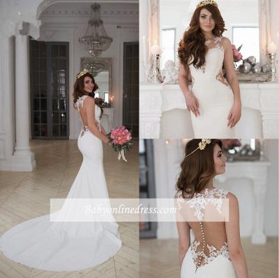 Sexy Cutaway Sides Bridal Gowns | Sheer Mermaid Wedding Dresses_1