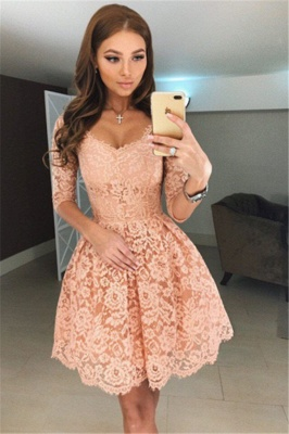Sexy White Ruffles Homecoming Dresses | Spaghetti Straps Lace Applique Short Cocktail Dresses_1