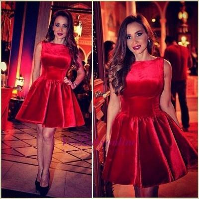 Sleeveless Designer Red Short Sexy Homecoming Dress_2
