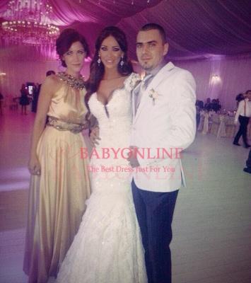 2018 Vintage Mermaid Wedding Dresses Vertigo Cap Sleeves Lace Appliques Crystal Beads Backless Bridal Gowns_1
