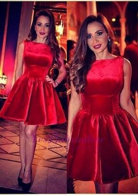 Sleeveless Designer Red Short Sexy Homecoming Dress_3