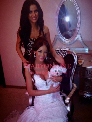 2018 Vintage Mermaid Wedding Dresses Vertigo Cap Sleeves Lace Appliques Crystal Beads Backless Bridal Gowns_2