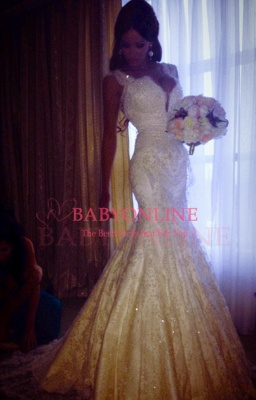 2018 Vintage Mermaid Wedding Dresses Vertigo Cap Sleeves Lace Appliques Crystal Beads Backless Bridal Gowns_4