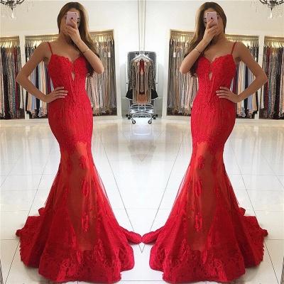Gorgeous Lace Prom Dresses  Keyhole Sheath Sheer Appliques Evening Dresses_3