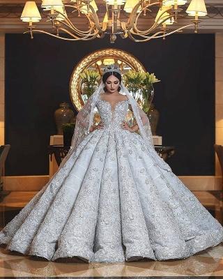 Sweetheart Neckline Princess Ball Gown Wedding Dresses_2