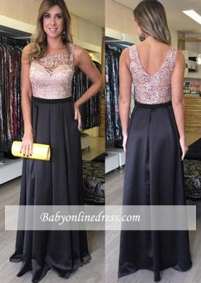 Zipper Floor-Length Sleeveless Lace Gorgeous A-Line Prom Dresses_1