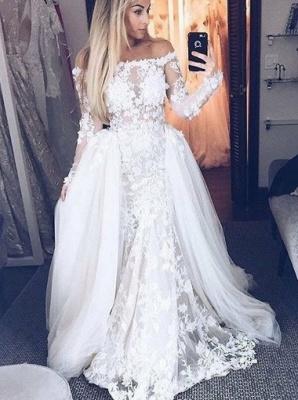 Off-The-Shoulder A-Line Wedding Dresses | Bridal Lace Appliques Dresses For Wedding_3